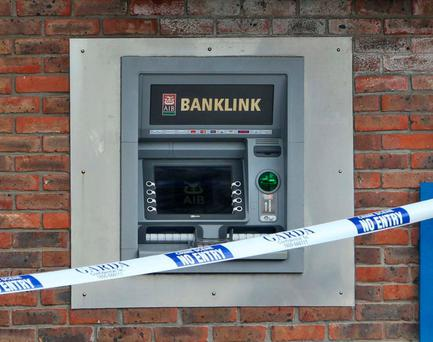 The scene of a cash-in-transit raid in Dunboyne last month. Photo: Collins