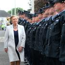 Justice Minister and Tánaiste Frances Fitzgerald at a Garda Passing Out Parade in Templemore, Co Tipperary in June 2016. Picture credit; Damien Eagers