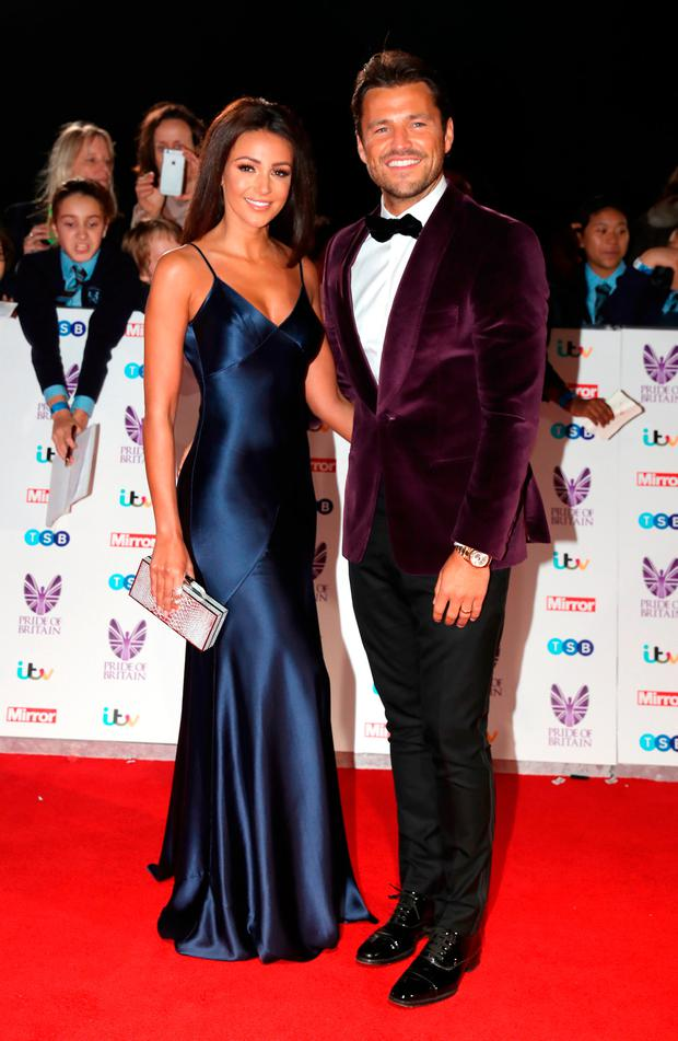 Michelle Keegan and Mark Wright attend the Pride Of Britain awards at the Grosvenor House Hotel on October 31, 2016 in London, England. (Photo by Chris Jackson/Getty Images)