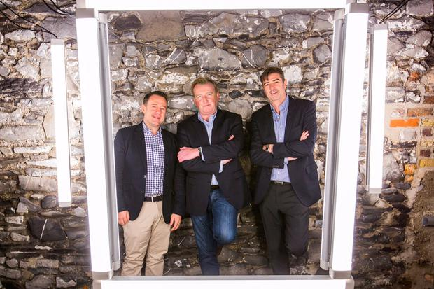 L to R: Declan Barrett (CCO), Graham Deane (COO) and Kevin Maughan (CEO)
