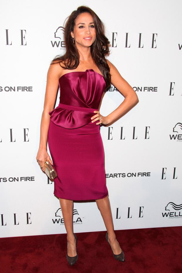 Meghan Markle attends the ELLE Women in Television Celebration presented by Hearts on Fire Diamonds and Wella Professionals held at Soho House on January 24, 2013 in West Hollywood, California. (Photo by Tommaso Boddi/Getty Images)