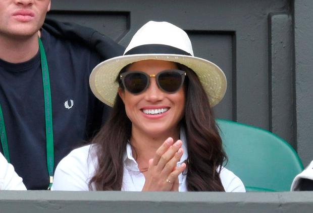 Meghan Markle in the royal box at Wimbledon 2016