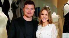 Brian O'Driscoll and wife Amy Huberman pictured at the launch of Newbridge Silverware's Luna Collection by Amy