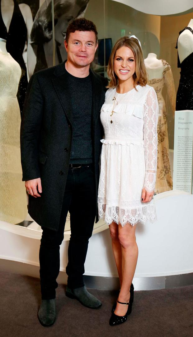 Brian O'Driscoll and wife Amy Hubermanpictured at the launch of Newbridge Silverware's Luna Collection by Amy