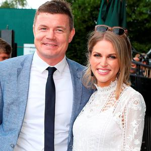 Brian O'Driscoll and Amy Huberman.