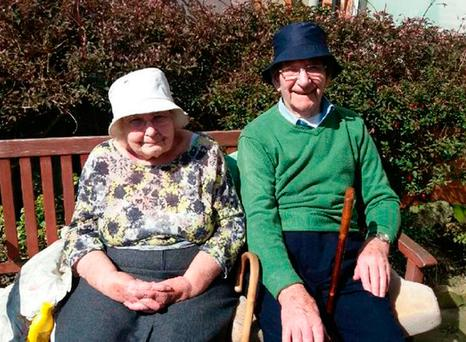 Devoted couple Ray and Jessie Lorrison from South Shields, who have been together for 70 years and will now be allowed to stay in the same residential home following a social media campaign by their family Family/PA Wire