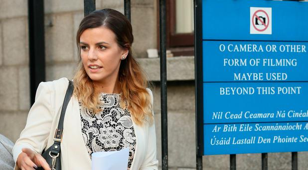 Kiara Kenneally, with an address in Sandyford, Dublin pictured leaving the Four Courts. Photo: Collins Courts