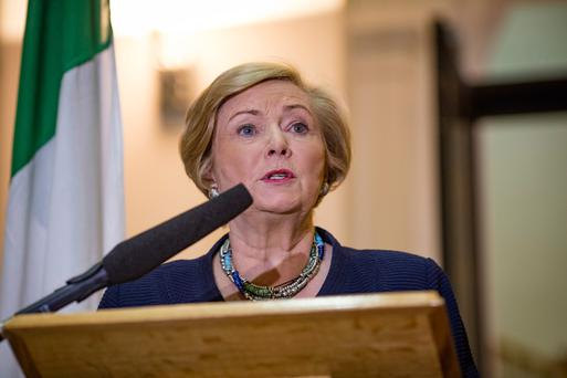 Tánaiste Frances Fitzgerald at Government Buildings yesterday Picture: Arthur Carron