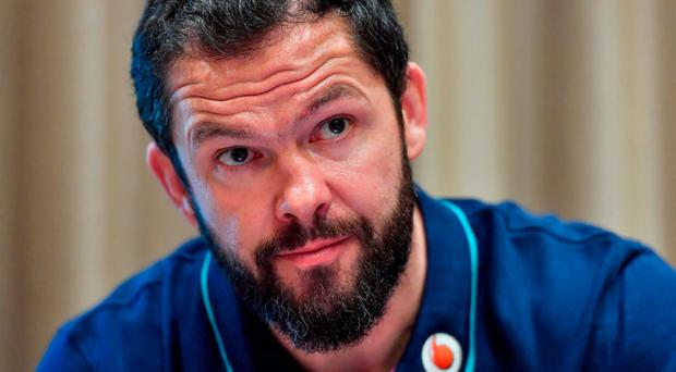 Assistant coach Andy Farrell refused to engage with the issue at a media conference at the team's base at the Trump International Tower Hotel yesterday, referring to Ulster's earlier statement on the matter. Photo by Brendan Moran/Sportsfile