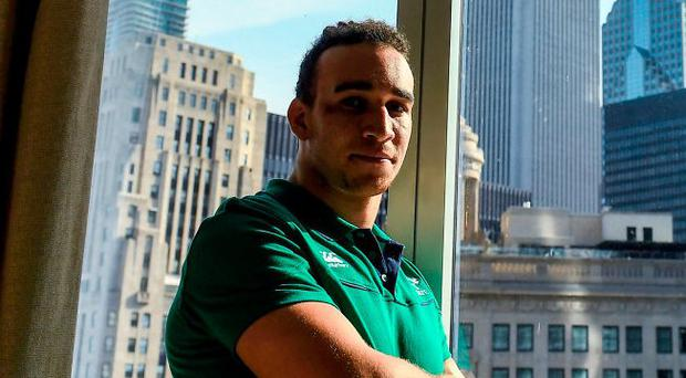 Ultan Dillane pictured at Ireland's base in Chicago yesterday. Photo: Brendan Moran/Sportsfile