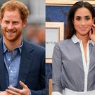 Prince Harry, left, and Meghan Markle, right