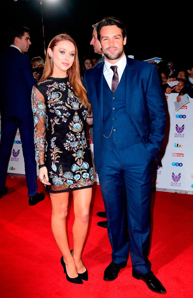 Una Healy and Ben Foden attending The Pride of Britain Awards 2016