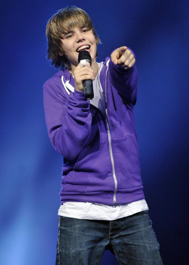Canadian singer Justin Bieber performs on stage during the event