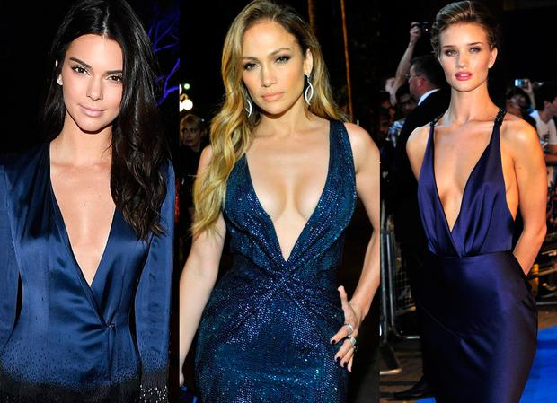 (L to R) Kendall Jenner, Jennifer Lopez and Rosie Huntington-Whiteley