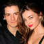 Orlando Bloom and Miranda Kerr attend the after party for the Broadway opening night of