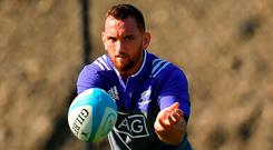 Aaron Cruden during New Zealand training in Chicago. Photo: Brendan Moran/Sportsfile