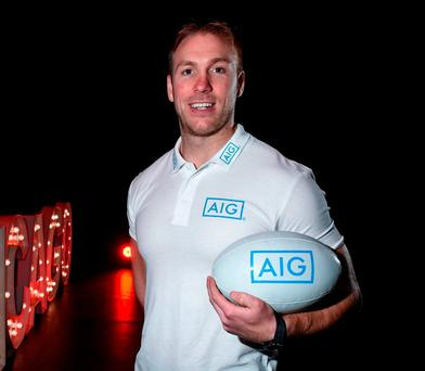 Stephen Ferris at The Helix in DCU, at the launch of the 'Rugby Weekend' event in Chicago, presented by AIG Insurance. Photo: Matt Browne/Sportsfile
