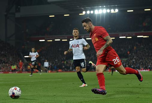 The second of those outings saw the former Burnley forward feel pain in his knee during the 2-1 win over Tottenham last week, and scans have revealed that he has suffered serious cartilage damage. Photo by Andrew Powell/Liverpool FC via Getty Images