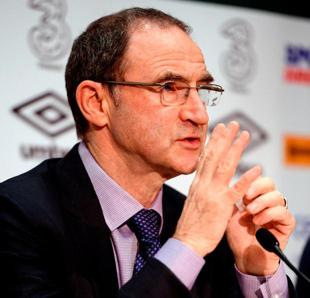 Martin O'Neill announced a 35-man squad yesterday. Photo by Seb Daly/Sportsfile