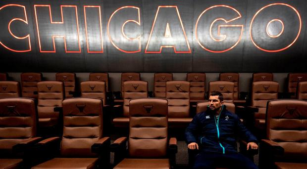 Rob Kearney during a squad visit to the Chicago Bulls training facility, The Advocate Center. Photo by Brendan Moran/Sportsfile