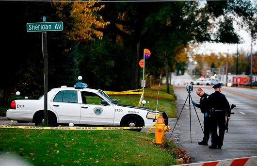 Scott Michael Greene, 46, was taken into custody for the fatal shooting of two Des Moines area police officers. Photo: Brian Powers/The Des Moines Register via AP