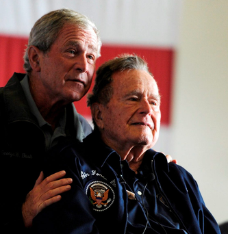 George Bush and his father could