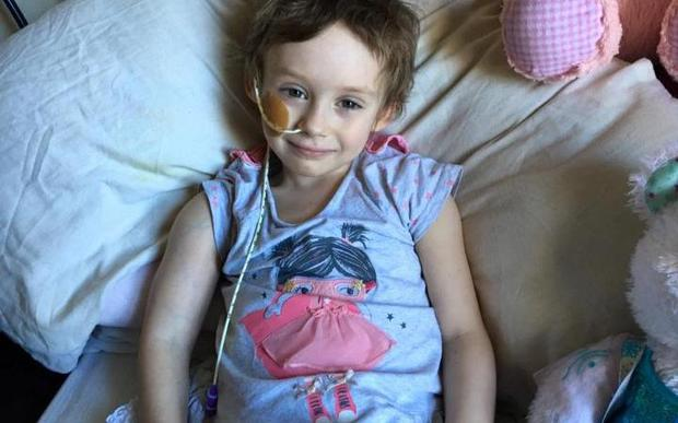 Jessica is fighting a battle against terminal cancer. Photo Facebook/ Jessica- A fight against Neuroblastoma