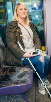 Claire Shorten lost her sight when she was 20