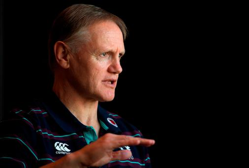 Ireland head coach Joe Schmidt during a press conference at Trump International Hotel & Towers in Chicago, USA. Photo by Brendan Moran/Sportsfile