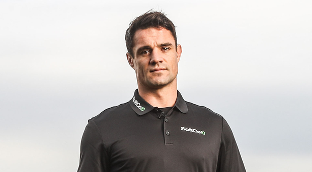 Dan Carter, Brand Ambassador for SoftCo financial software products, pictured yesterday at Dun Laoghaire Golf Club, Enniskerry. Picture: INPHO