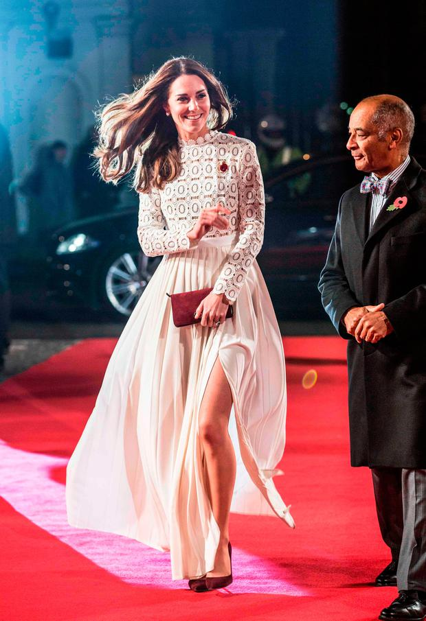 Britain's Catherine, Duchess of Cambridge arrives for the premiere of