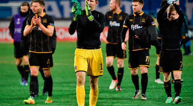 Gary Rogers of Dundalk after the UEFA Europa League defeat against Zenit St Petersburg