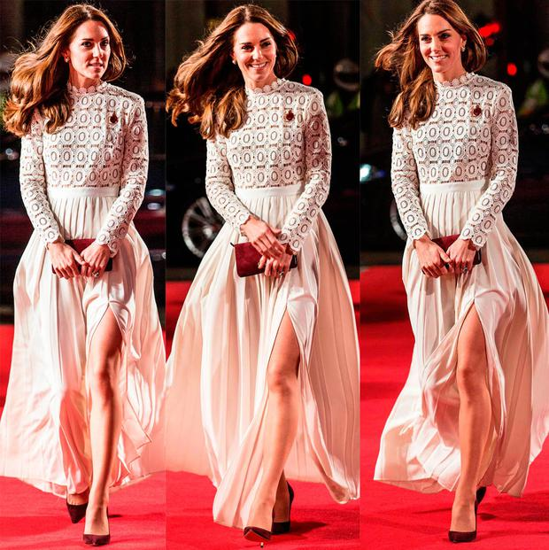 The Duchess of Cambridge leaves the world premiere of A Street Cat Named Bob, at Curzon cinema in Mayfair, London.