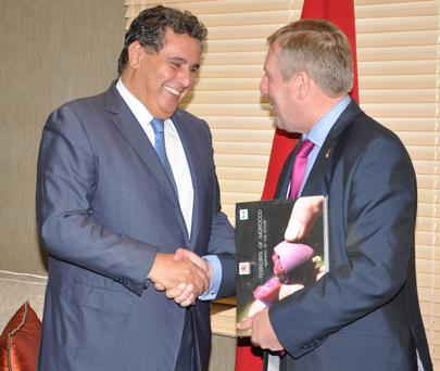 Minister for Agriculture, Food and the Marine, Michael Creed T.D. commenced his visit to Morocco with a high-level bilateral meeting with his Moroccan Counterpart, the Minister for Agriculture, Mr. Aziz Akhannouch.