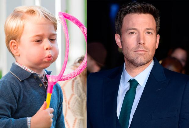 Prince George, left, and Ben Affleck, right