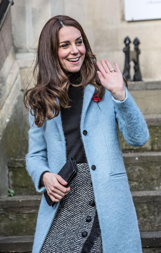 The Duchess of Cambridge leaves the Nelson Trust Women's Centre in Gloucester after a visit as part of her ongoing work on addiction and mental health. Picture date: Friday November 4, 2016. See PA story ROYAL Kate. Photo credit: Richard Pohle/The Times/PA Wire