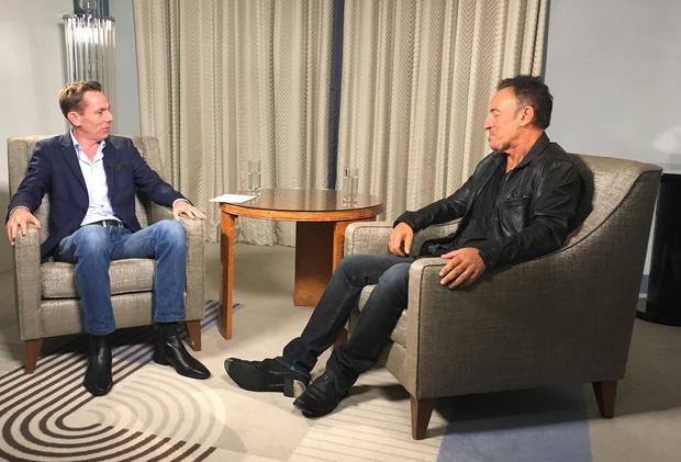 Ryan Tubridy and Bruce Springsteen. Picture: The Late Late Show/RTE