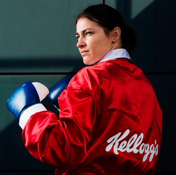Former Olympic champion boxer Katie Taylor has gone professional, raising the question of whether women should compete inside the ring, especially without the head protection worn in the amateur ranks Photo: Patrick Bolger