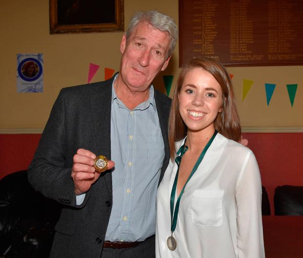 Jeremy Paxman with Hilary Hogan of TCD Photo: Cathal Burke / VIPIRELAND.COM