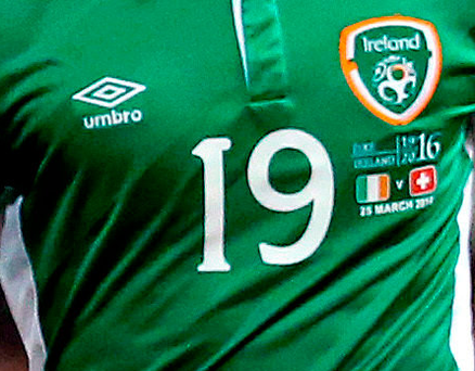The Ireland jersey in question Photo: Brian Lawless/PA Wire
