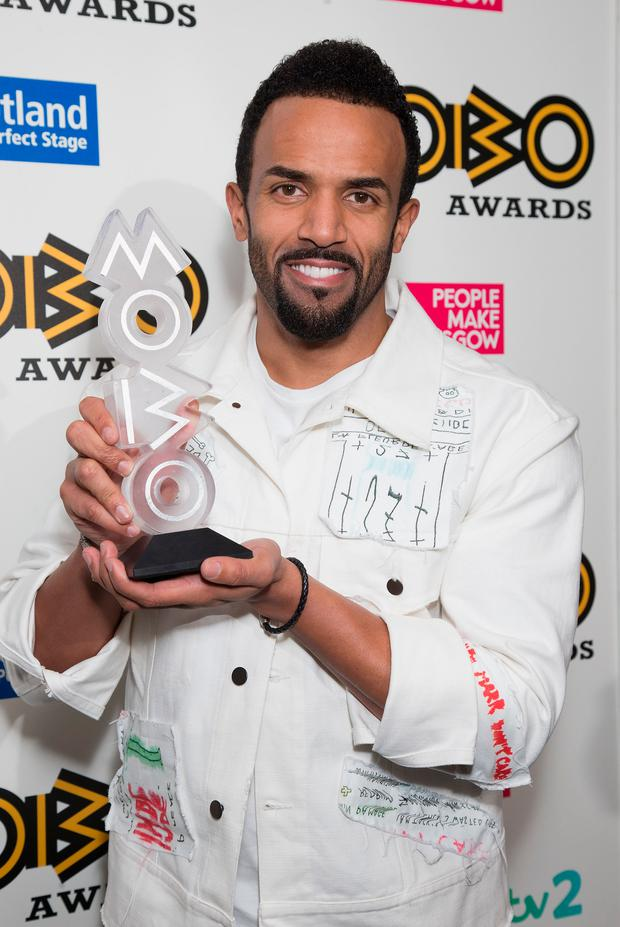 Craig David wins Best Male at the MOBO Awards at The SSE Hydro on November 4, 2016 in Glasgow, Scotland. (Photo by Jo Hale/Getty Images)