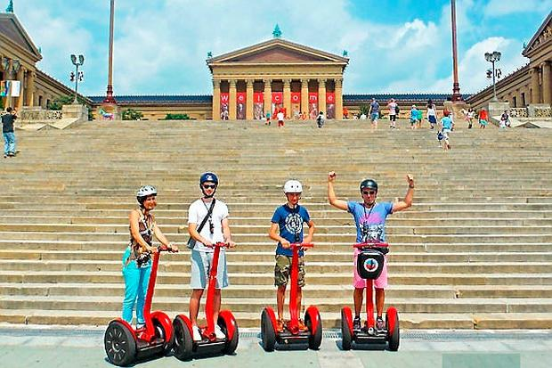 Segway tour of downtown Philidelphia