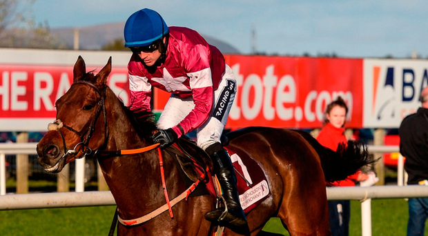 Valseur Lido and Ruby Walsh on their way to winning the JNWine.com Chase. Photo: Oliver McVeigh/Sportsfile