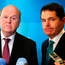 Trouble ahead: Finance Minister Michael Noonan and Minister for Public Expenditure and Reform Paschal Donohoe pictured after delivering Budget 2017 last month Photo: Niall Carson/PA