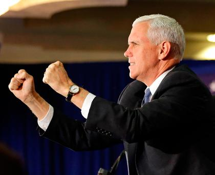 Republican vice presidential candidate Mike Pence is also the governor of Indiana Photo: AP Photo/John Raoux