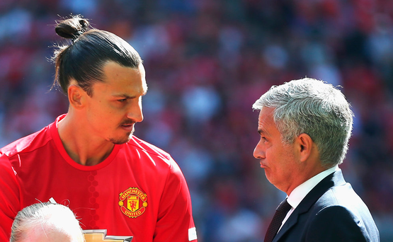 'Mourinho was again offering his full support yesterday for Ibrahimovic, but he is neither scoring nor playing well and looks in chronic need of a rest'. Photo: Getty