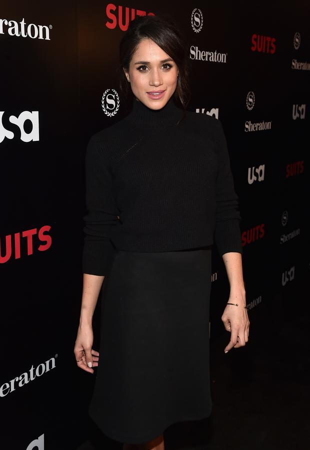 Meghan Markle attends the premiere of USA Network's