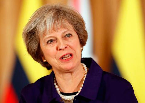 Ms May said she would resist any attempt to reverse the decision taken by UK voters in the referendum. Photo: Kirsty Wigglesworth/PA Wire