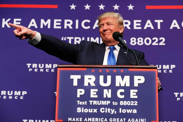 Donald Trump at a campaign rally in Sioux City, Iowa on Sunday Photo by Chip Somodevilla/Getty Images
