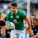 Conor Murray breaks through the New Zealand defence to score Ireland's third try. Photo: Brendan Moran/Sportsfile